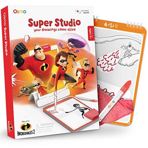 Osmo - Super Studio - Lerne, deine Lieblingscharaktere aus Die Unglaublichen 2 zu zeichnen - Alter: 5-11 - Sieh zu, wie sie zum Leben erwachen - für iPad und Fire Tablet (Osmo-Basis wird benötigt)