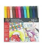 Best Coloring Brush Pen Sets - Sakura XBR-12SA 12-Piece Koi Assorted Coloring Brush Pen Review