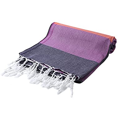 Cacala Pestemal Turkish Bath Towels Striped Bath Beach Sauna Luxury Peshtemal 37x70  Dahlia Eclipse