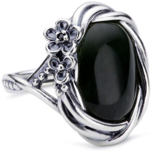 Pandora Damen-Ring Jade Nephrit Schwarzem Zirkonia Gr. 58 (18.5) 190847Nja58
