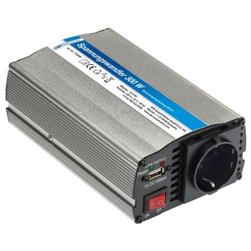 Cartrend 7740300 Spannungswandler 300 Watt, 12 Volt / 230 Volt mit USB Ladefunktion