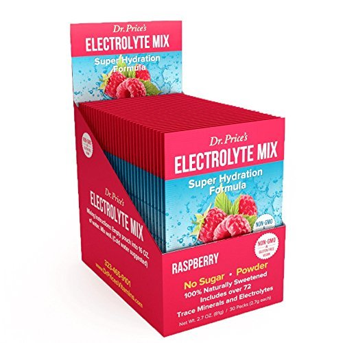 Electrolyte Mix, Raspberry Electrolyte Powder   30 Packets, Hydration Keto Electrolyte Drink Mix   Zero Sugar, Non-GMO, 72 Trace Minerals Plus Potassium, Magnesium, Calcium and Sodium