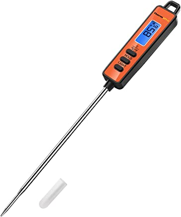 ThermoPro TP01S Termometro da Cucina Lettura Istantanea con Sonda Lunga Termometro Carne Digitale per Cottura Alimenti Latte Dolci Olio Liquidi Barbecue