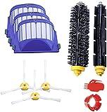 Accesorio para iRobot Roomba 600 610 620 630Series - Kit de repuesto para aspiradora iRobot Partes Set de filtros laterales cepillo de cerdas flexibles Beater Brush Set de herramientas de limpieza