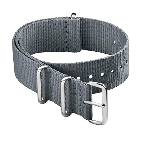 Archer Watch Straps - Correas de Nailon Classic NATO (Gris, 20mm)