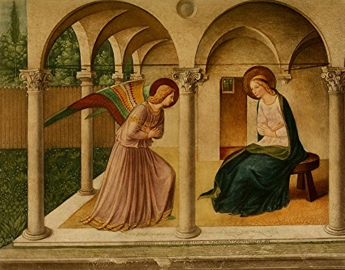 Posterazzi The Renaissance The Annunciation Poster Print by Fra Angelico, (8 x 10)