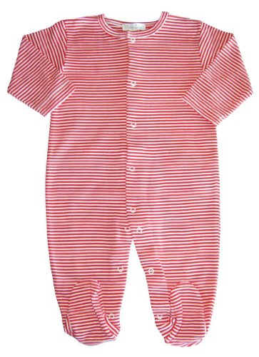 Kissy Kissy Baby Essentials Striped Footie-Red-6-9 Months