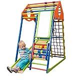 Kinder Aktivitätsspielzeug Kletterturm mit Rutsche ˝KindwoodColor-Plus˝ Spielcenter Spielplatz