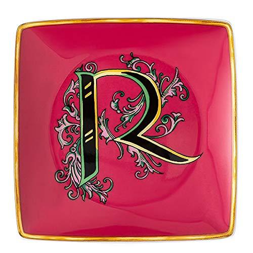 Versace by Rosenthal - Schale, Teller, Schälchen - Holiday Alphabet - R - 12 x 12 cm - Porzellan