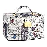 DWY-Jewellery Box Caja de joyería Tocador Femenino Accesorios for el Cabello Joyas Pendientes Organización de Almacenamiento Collar Caja de Acabado (Color : White, tamaño : 24 * 16 * 16.5cm)