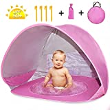 Nice2you Pop up Baby Beach Tent with Automatic Folding Baby Pool with UV
