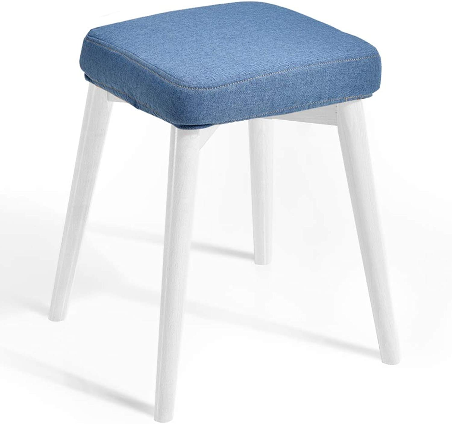 Stool Furniture Footstool Square Four-Legged Bracket Washable Chair (color   K)