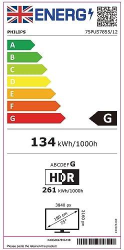 Eficiencia energética Philips: 75PUS7855