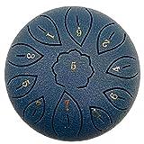 Lengua Tambor De Acero, 6 Tambor 11 Notas De Instrumentos De Percusión De Mano Etéreo Pulgadas Pan Percusión con 2 Baquetas De 6 Finger Bolsa De Transporte Y La Etiqueta (Azul Marino)