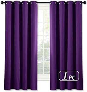 NICETOWN Blackout Blind Curtains for Windows - (Royal Purple Color) Home Fashion Thermal Insulated Room Darkening Drapery for Bedroom, 52W x 63L, Sold Individually