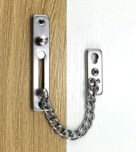 Cubierta protectora de cadena de seguridad de puerta de acero fundido de acero inoxidable 304, cerradura de puerta pesada, cadena de puerta antirrobo
