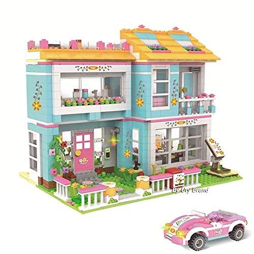 HYLL Buildings Friends Series Feliz Familia Familia Casa Modelo Bloques de construcción Ladrillos Juguetes para niños Niñas Educación DIY Regalo