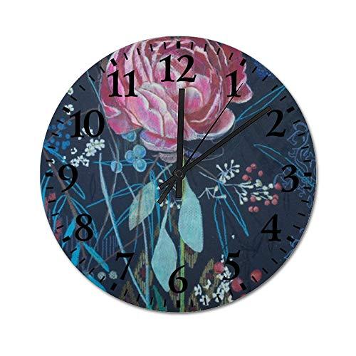TattyaKoushi Fashion Wooden Wall Clocks Home Decor Artsy Rose Silent &