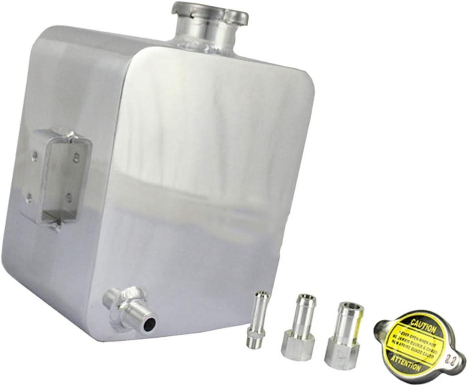 Almencla Universal 2 5l Ausgleichsbehälter Kühlwasserbehälter Kühlmittelbehälter Kühlmittel Kühlwasser Kühlerausgleichsbehälter Silber Auto