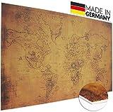 Vintage Schreibtischunterlage alte Weltkarte von deskpad | Alte Landkarte auf Papier Motiv |...