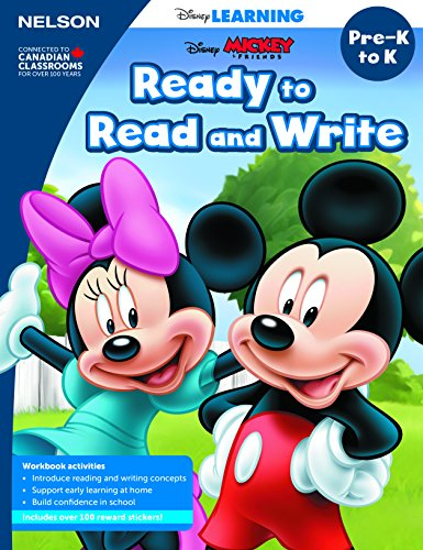 Disney Learning Ready To Read And Write Pre-K/K Workbook