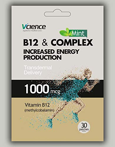 Best Value 30 Patches-Vitamin B12 & B Complex Energy Patch- Feel energised! Innovative Formula More Vital Vitamins-Active Form of B Vitamins
