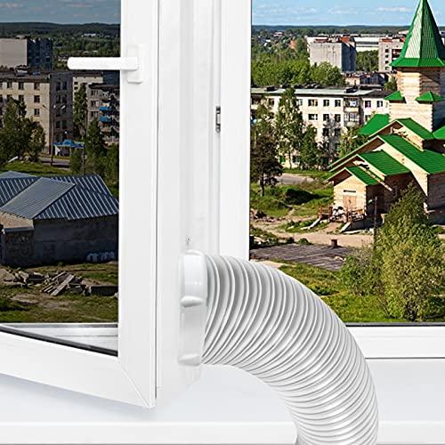 Moaly Guarnizione universale per climatizzatore portatile, facile da installare, protezione per il ricambio dell'aria, guarnizione per il climatizzatore dell'aria calda Airlock per asciugatrice