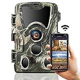 """SUNTEKCAM WiFi Caméra de Chasse Bluetooth, 24 MP 2.7K - avec LED infrarouges, Vision Nocturne, Détecteur de mouvements à 120°, étanchéité IP66 et écran LCD 2,4"""""""