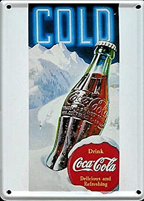 Coca Cola Ice Metal postal/Mini con texto en inglés: Amazon.es: Hogar