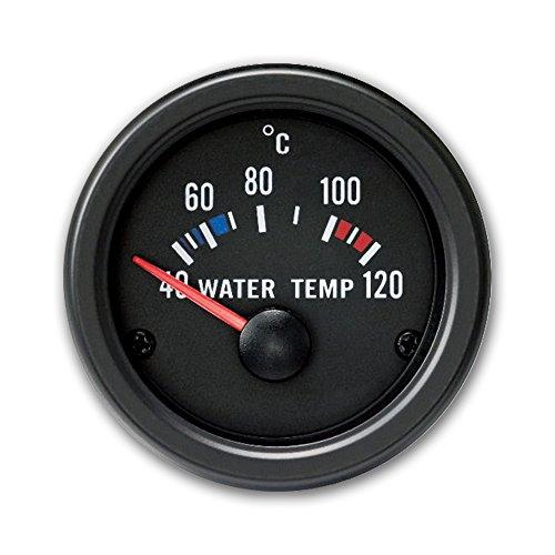 JOM Car Parts & Car Hifi GmbH 21116V Manomètre, température d'eau (40~120°C),Noir, Ø52mm