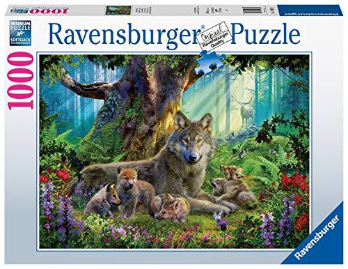 Ravensburger Puzzle 15987 - Wölfe im Wald - 1000 Teile Puzzle für Erwachsene und Kinder ab 14 Jahren, Puzzle mit Wölfen