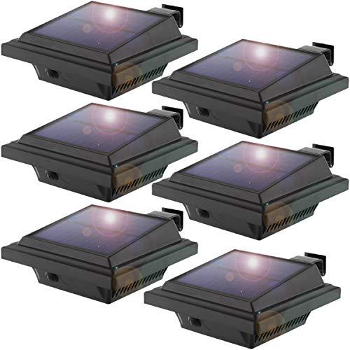 Solar Gutter Lights Outdoor,Upgrade 25 LEDs...