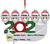 2020 Adornos de Navidad, Cuarentena hecha a mano Árbol de Navidad Decoración Adornos Fiesta de Navidad Decoración Regalo Familiares Decoración Árbol de Navidad Decoración Interior para el Hogar