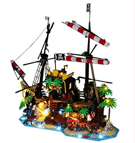QZPM Led Beleuchtungsset Für Lego Ideas Piraten Der Barracuda-Bucht, Kompatibel Mit Lego 21322 Bausteinen Modell Ohne Lego Set