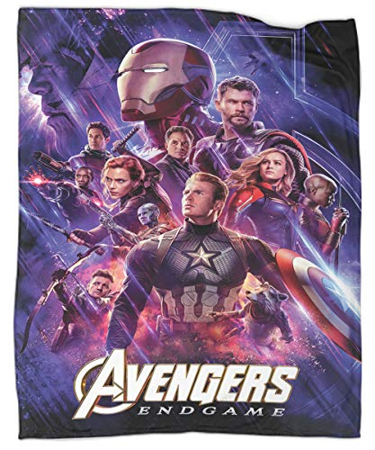 The Avengers Lightweight Cozy Bed Blanket Soft Throw Blanket Throw Size 50' X 60' Avengers End Game Lightweight Cozy Plush Microfiber Bedspreads for Adults