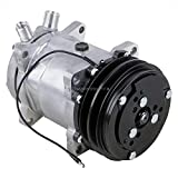 AC Compressor & 2 Groove A/C Clutch Replaces Sanden SD508 SD5H14 4509 4510 - BuyAutoParts 60-01769NA New