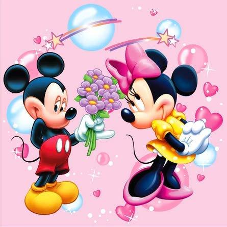 Kit de broderie diamant 5D ¨¤ faire soi-m¨ºme, broderie diamant au point de croix, strass 5D, peinture au point de croix, art, d¨¦coration de la maison, Mickey Mouse 30X40CM