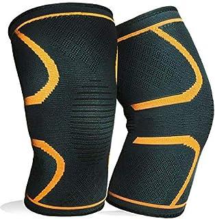 1 زوج دعامات الركبة الضاغطة لالتهاب المفاصل ولتخفيف الالام نتيجة الاصابة اثناء ممارسة كرة السلة/ كرة القدم