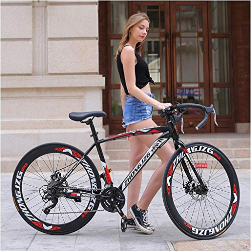 Mens Mountain Bike, 26 inch Aluminum Full Suspension Road Bike, 21 Speed Disc Brakes Bicycles, Outroad Mountain Bike for Adult Women Men (from US, Black)