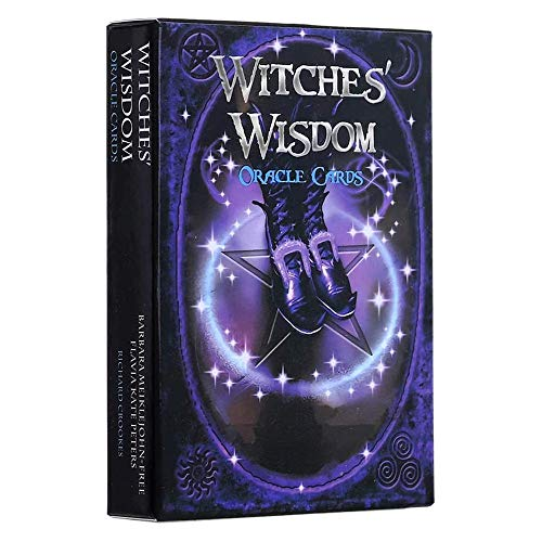 DOLS Witches' Wisdom Oracle Cards, Rare Silver-Plated Tarot Cards Family Party Beginners Game