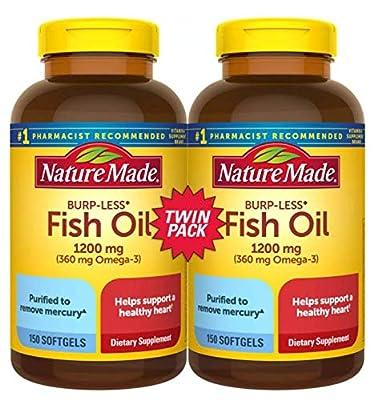 Fish Oil Burp-Less, 1200mg, 360mg Omega 3, 150ct