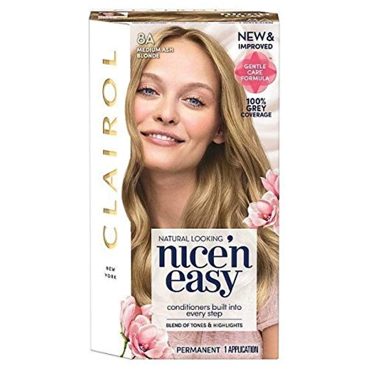 追う追うまつげ[Nice'n Easy] Nice'N簡単8A中アッシュブロンド - Nice'n Easy 8A Medium Ash Blonde [並行輸入品]