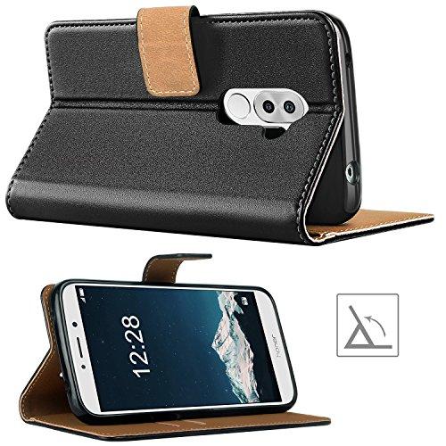 HOOMIL Handyhülle für Huawei Honor 6X Hülle, Premium Leder Flip Schutzhülle für Huawei Honor 6X Tasche, Schwarz - 4