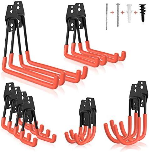 Garage Hooks Heavy Duty Steel Garage Storage Hooks Zalava 12 Pack Steel Utility Double Hooks product image