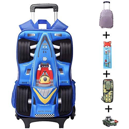 Trolley Rugzak Hoge Capaciteit School Reistas 3D Tank Waterdichte Laptop Rugzak voor Kinderen Tieners Volwassen School Camping Pendelen