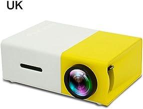 Domiluoyoyo YG300 Mini proyector de bolsillo, 1080p, batería incorporada, LCD, portátil, 600 lúmenes, reproductor multimedia LED para el hogar