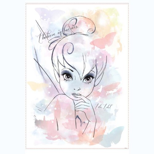 RoomMates RMK2377GM Disney Fairies I Believe in Fairies Tink Watercolor...