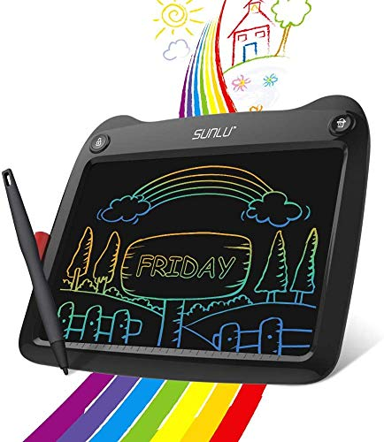 LCD Writing Tablet, 9 inch Electronic Writing And Drawing Board, Erasable Reusable Doodle Pad Tablet for Kids And Adults at Home, School, Office (Black)