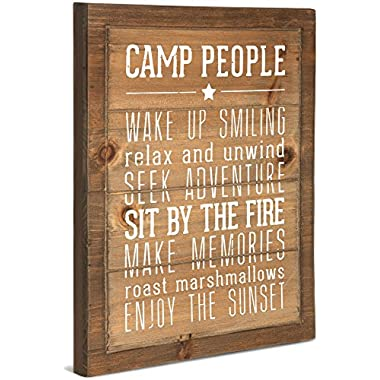 Pavilion Gift Company 67218 We People Camp People Rules Sign, 12 x 15