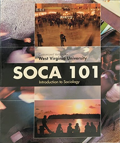 SOCA 101: Introduction to Sociology (Customized for West Virginia University)